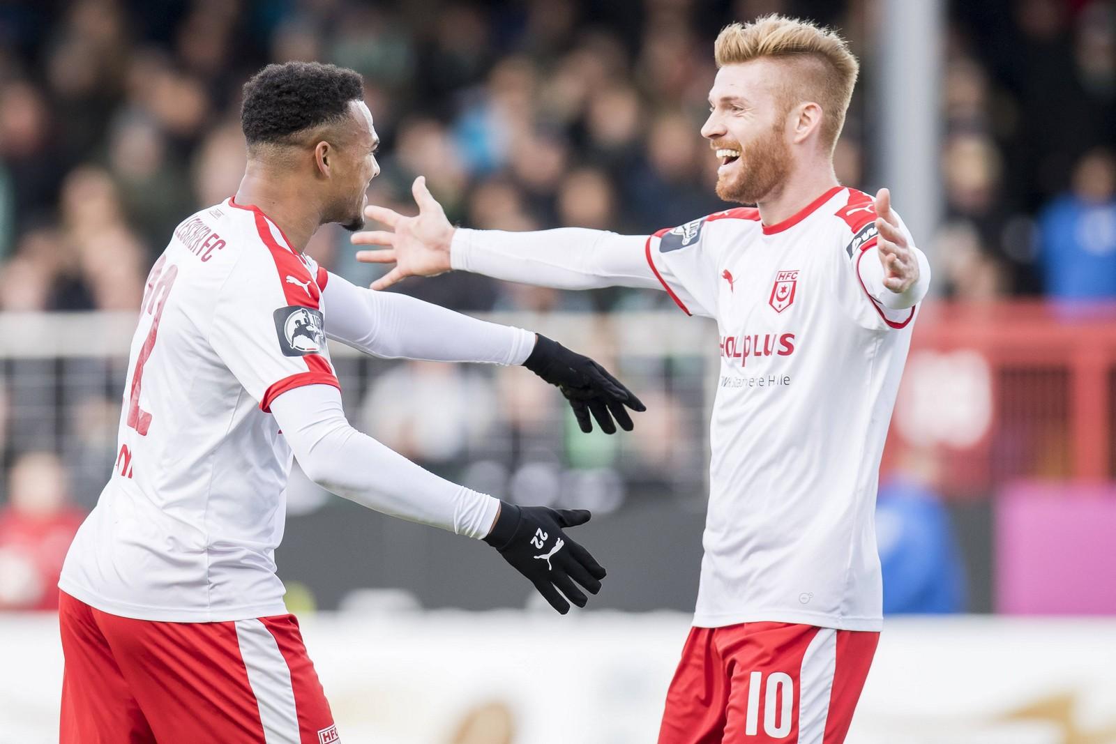 Mit seinem Treffer zum zwischenzeitlichen 2:0 schoss Matthias Fetsch Halle zum Sieg in Münster.