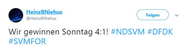 Tweet zu Meppen gegen Köln
