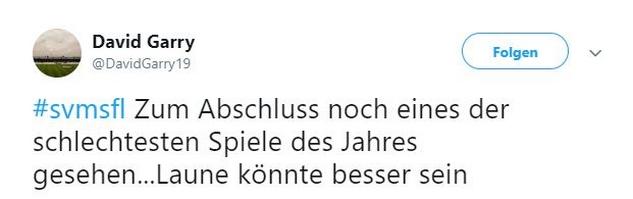 Tweet zu Meppen gegen Lotte