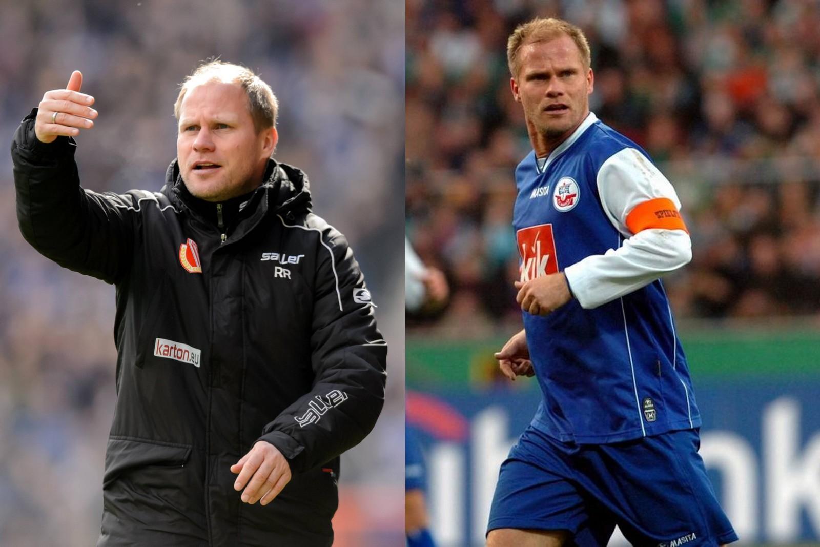 René Rydlewicz als Trainer in Cottbus und als Spieler bei Hansa
