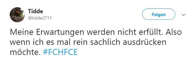 Tweet zu Rostock gegen Cottbus