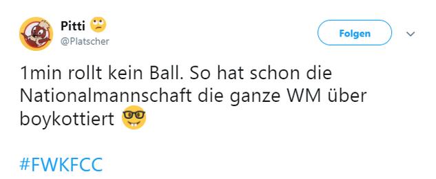 Tweet zu Würzburg gegen Jena