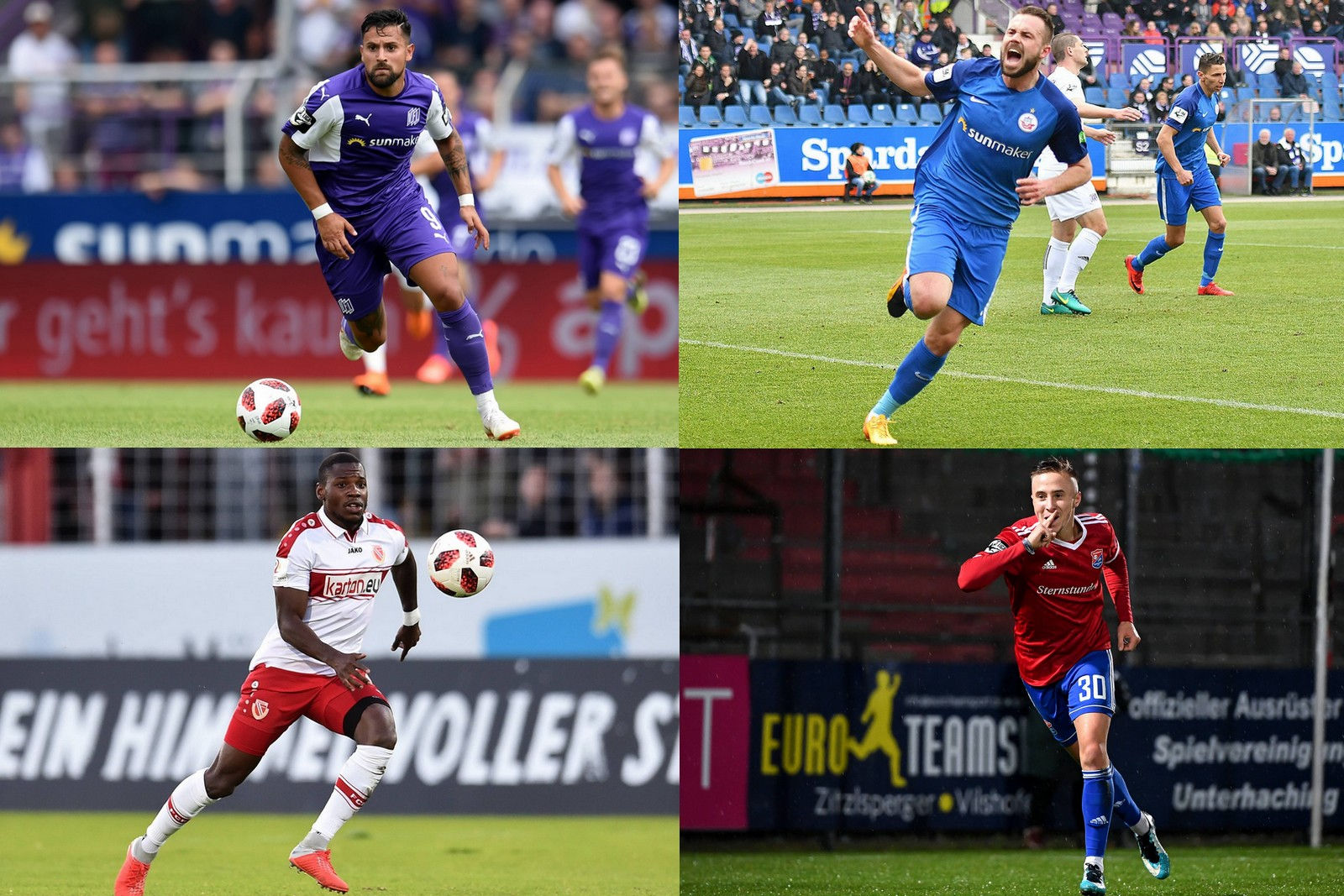 Collage zur 3. Liga