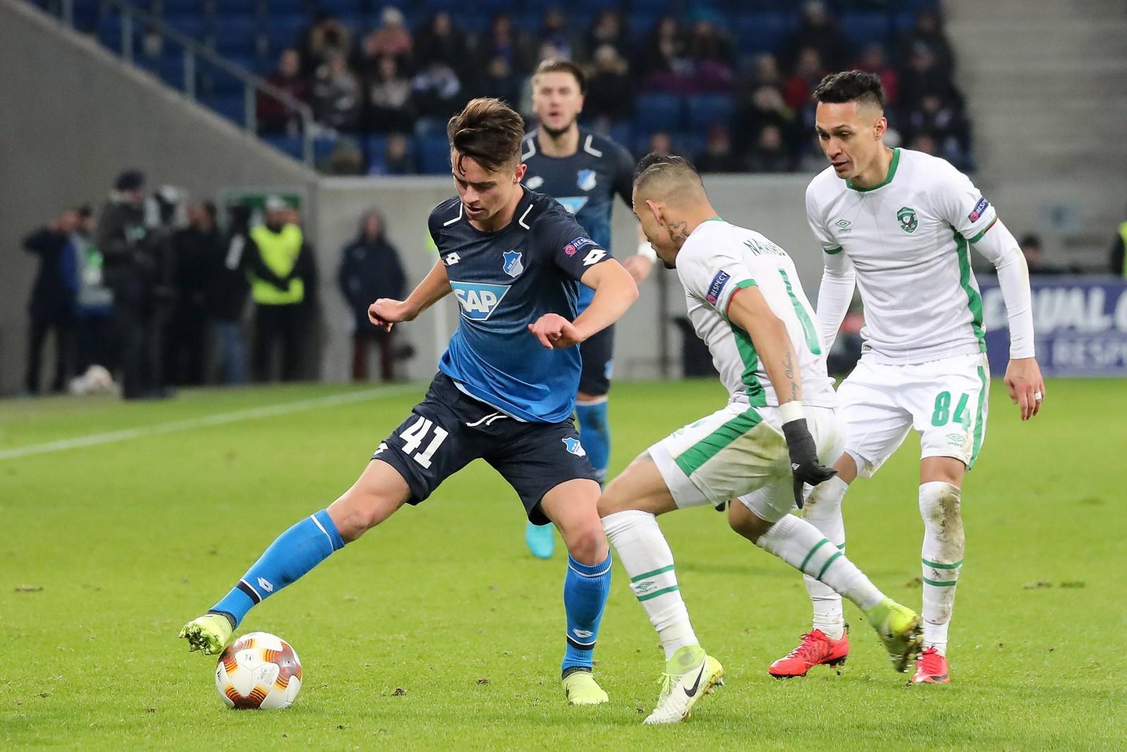 Johannes Bühler bei seinem Europa-League-Debüt.