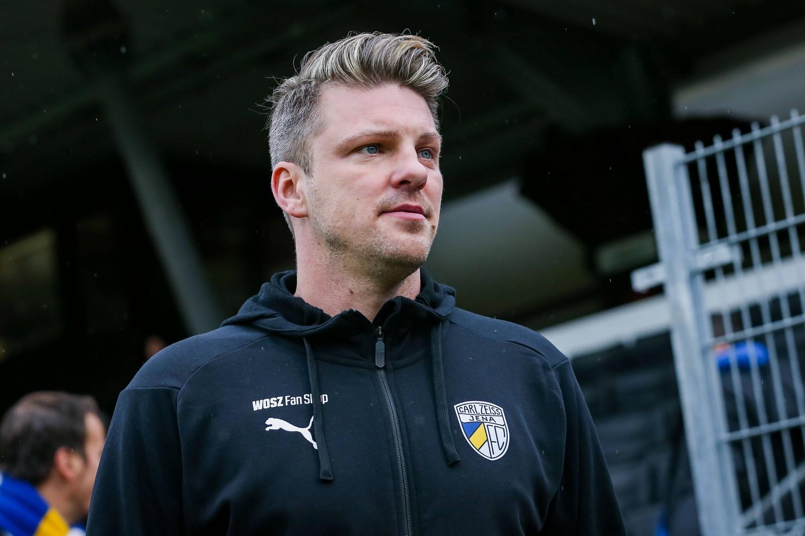 Lukas Kwasniok als Trainer des FC Carl Zeiss Jena