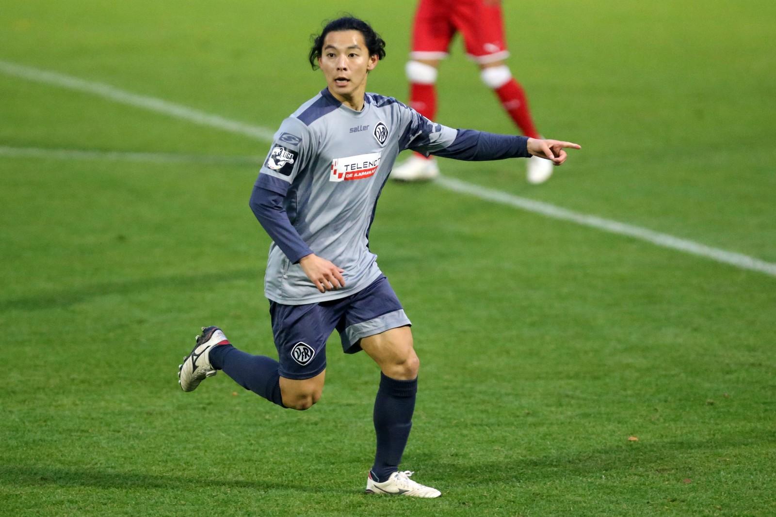 Natsuhiko Watanabe im Testspiel gegen den VfB Stuttgart.