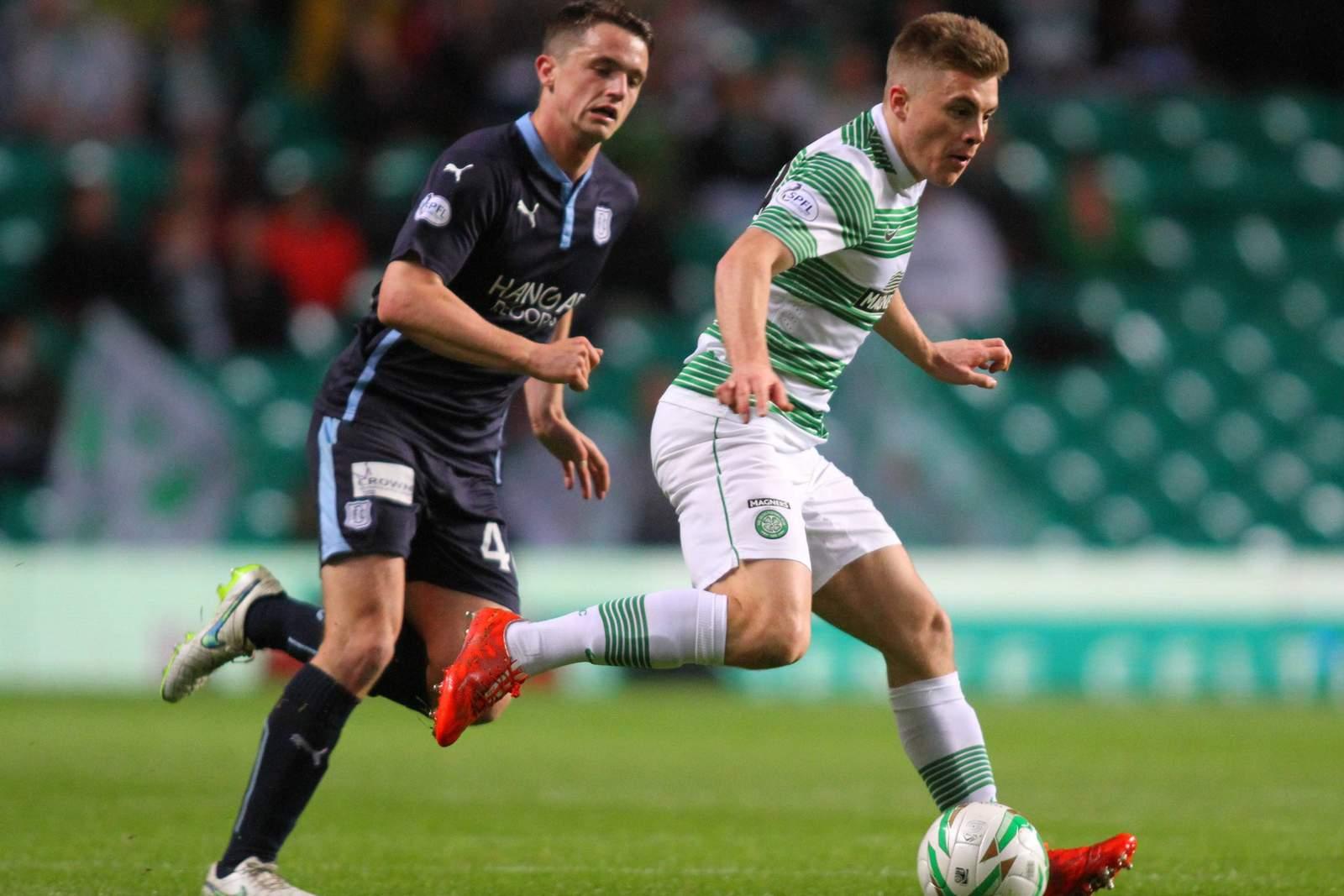 Thomas Konrad vom FC Dundee beim Spiel gegen Celtic