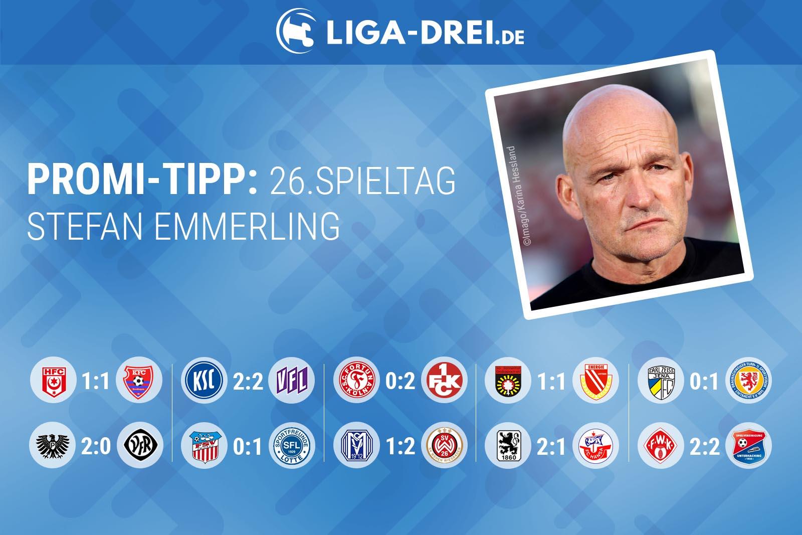Stefan Emmerling beim Liga-Drei.de Promi Tipp