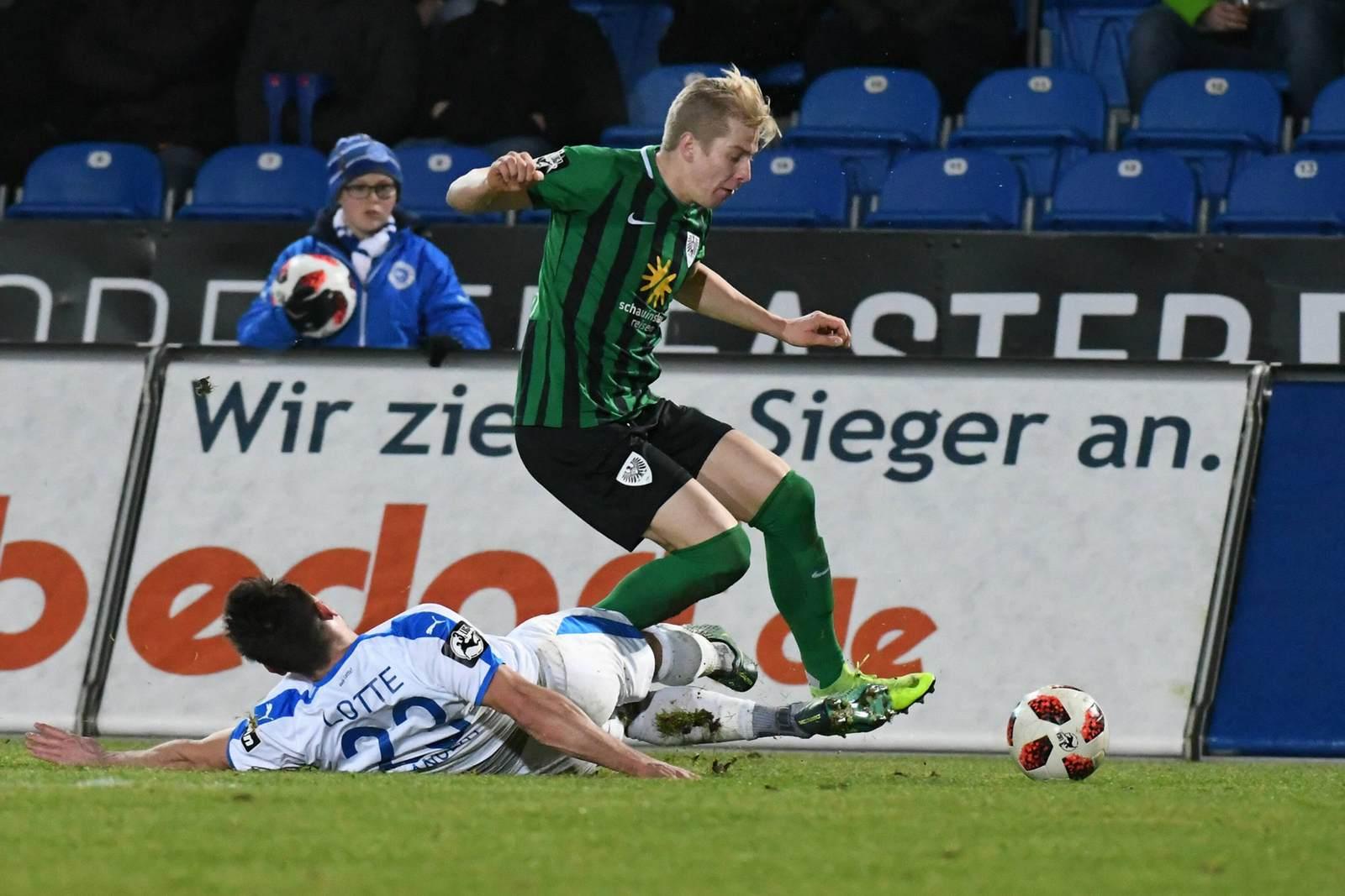 Niklas Heidemann im Duell mit Alexander Langlitz