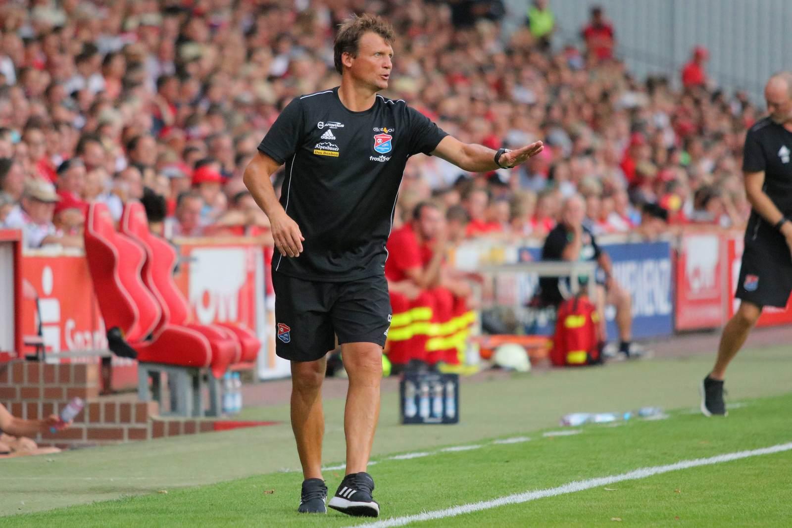 Claus Schromm als Trainer der SpVgg Unterhaching