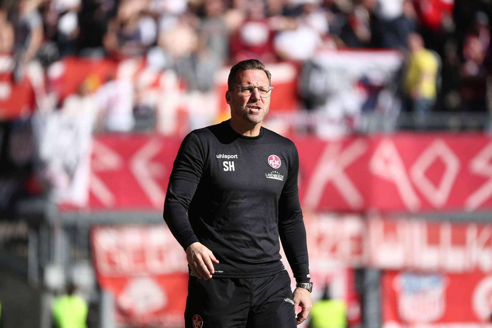 Sascha Hildmann als Trainer des 1. FC Kaiserslautern