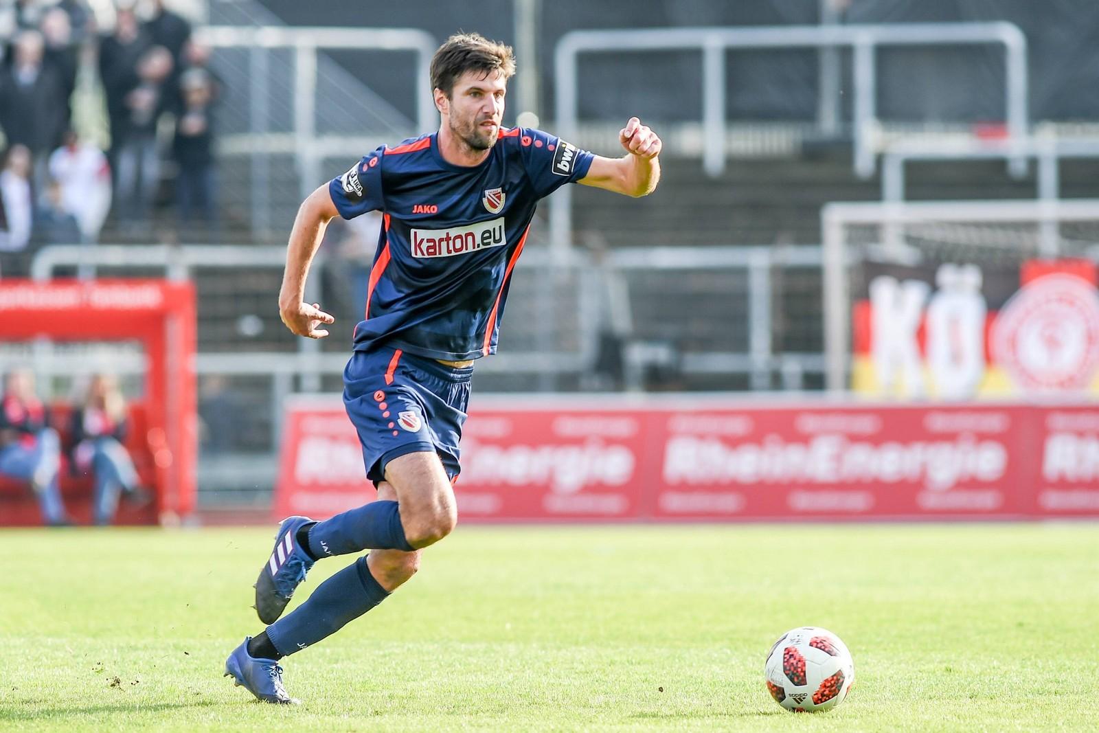 Tim Kruse im Spiel gegen Fortuna Köln.