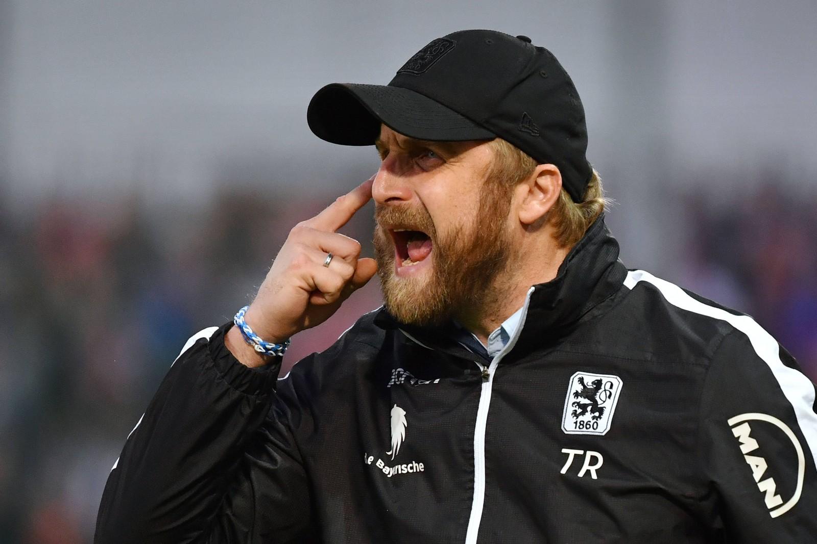 Daniel Bierofka als Trainer von 1860 München