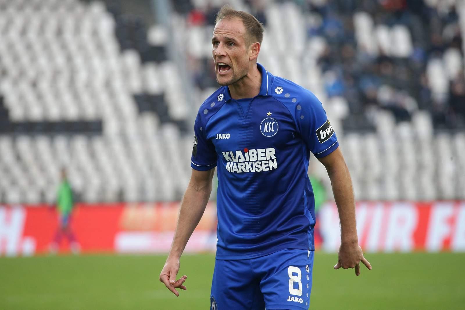 Manuel Stiefler lautstark im Spiel gegen Osnabrück