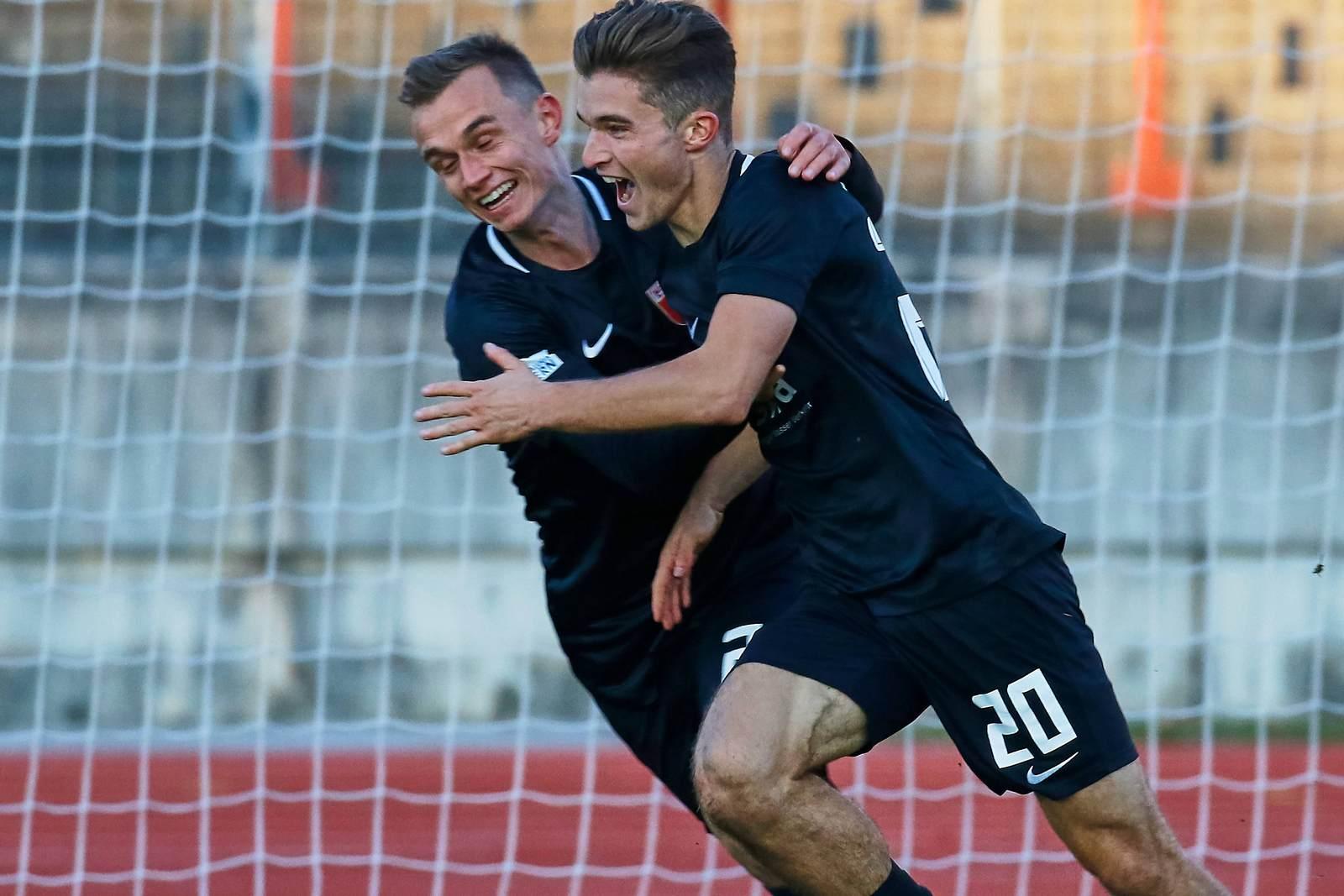 Bastian Kurz jubelt für den FC Augsburg II