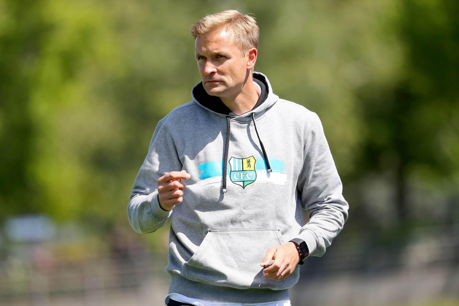 David Bergner als Trainer des Chemnitzer FC
