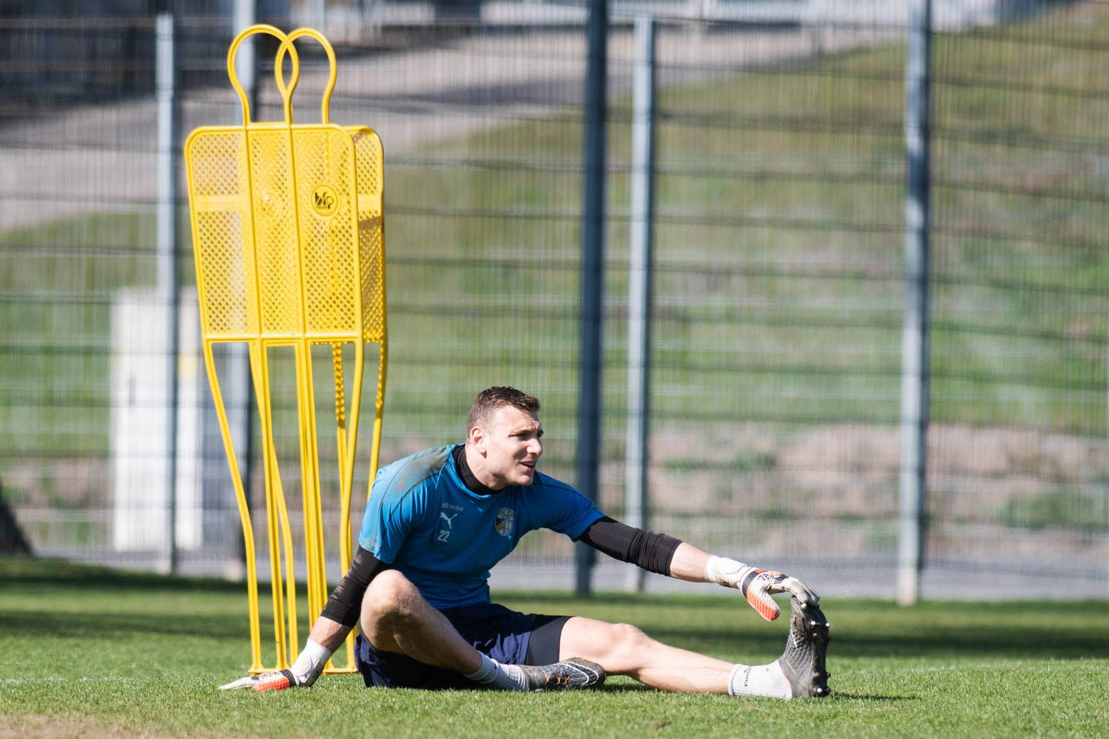 Jo Coppens im Training des FC Carl Zeiss Jena