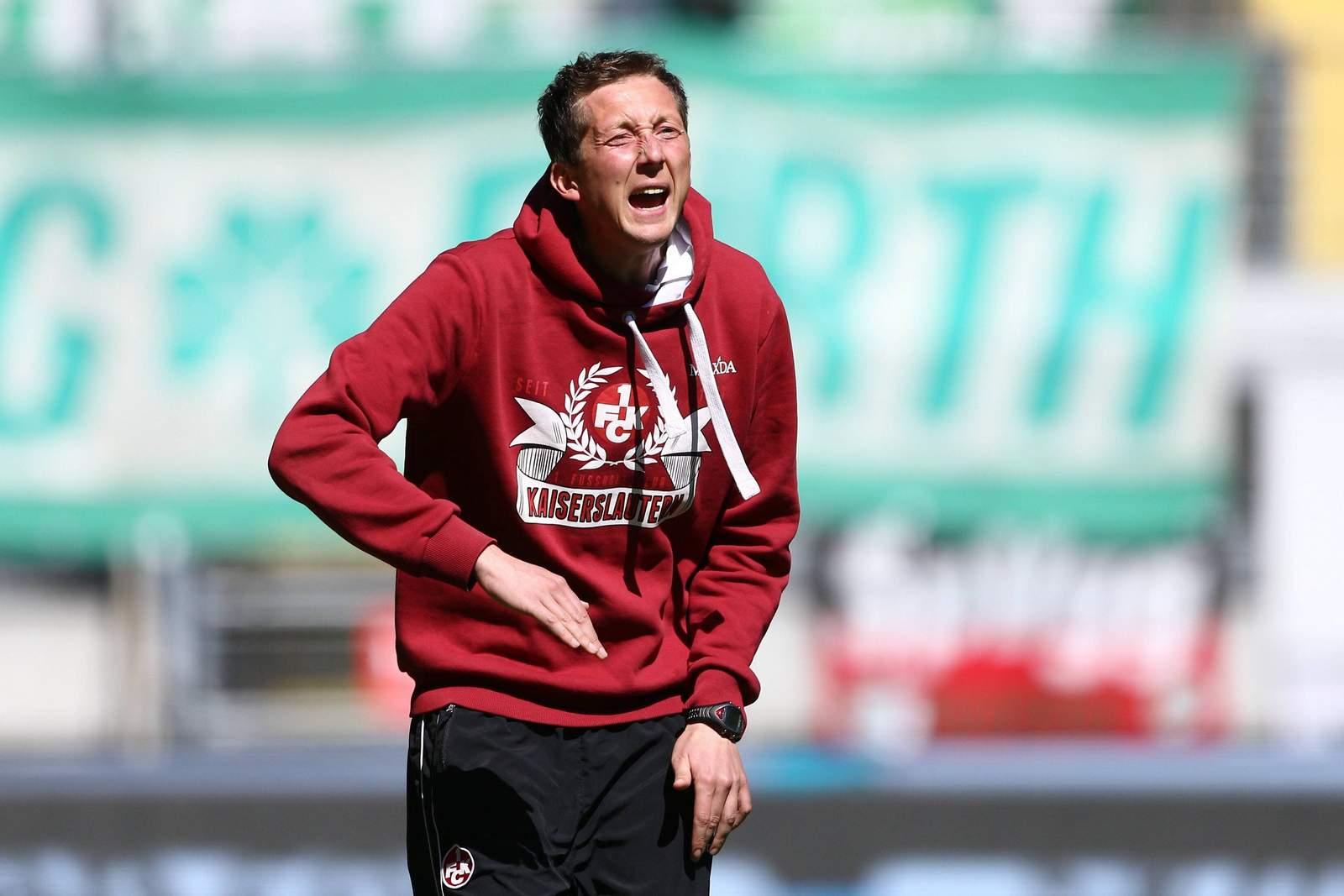 Konrad Fünfstück bei Spiel vom 1.FC Kaiserslautern