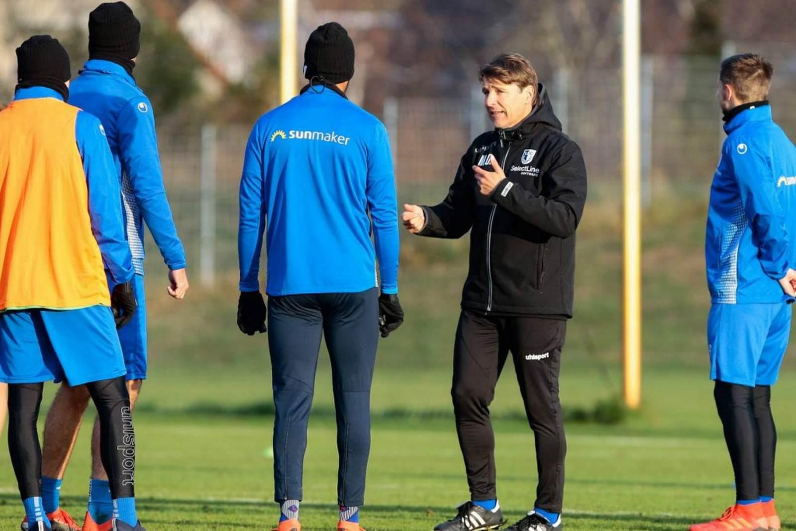 Michael Oenning coacht den 1. FC Magdeburg