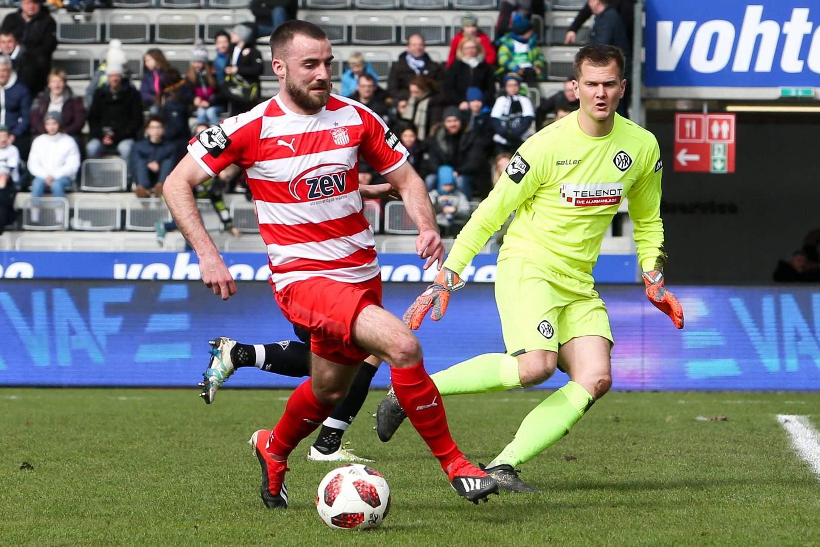 Morris Schroeter im Spiel gegen Aalen.