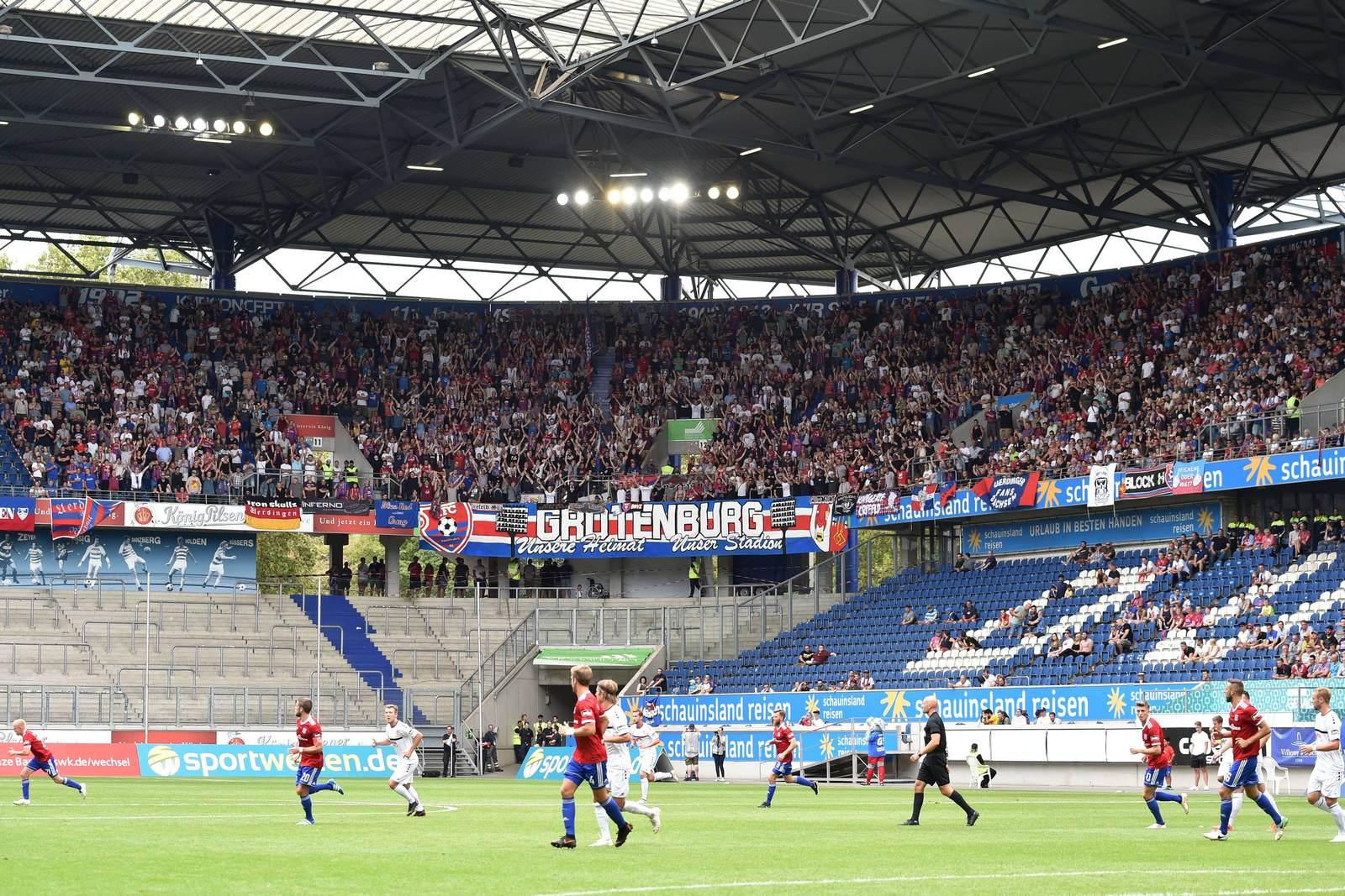 Der KFC Uerdingen in der Duisburger Schauinsland Reisen Arena