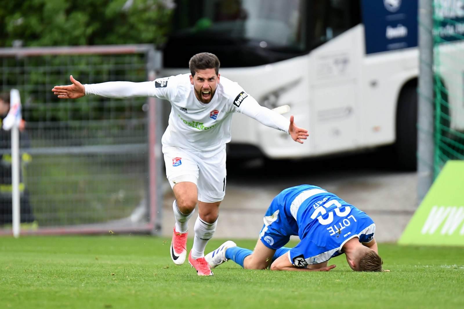 Stefan Schimmer im Spiel gegen Lotte.