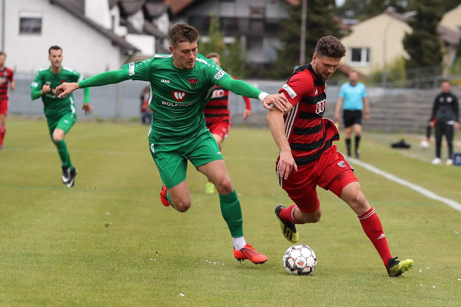 Nicolas Andermatt vom FC Schweinfurt im Spiel gegen Ingolstadt
