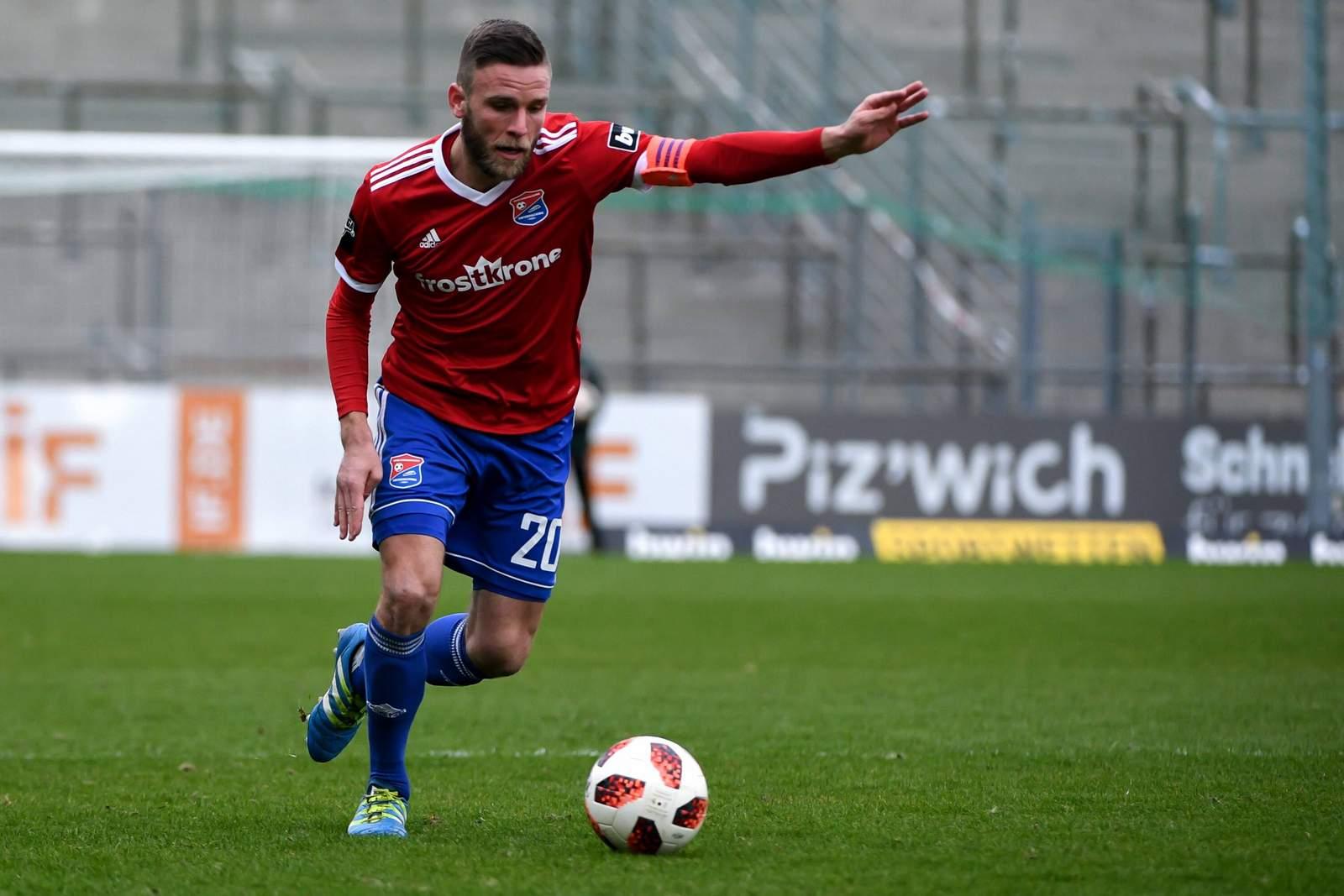 Dominik Stahl im Spiel gegen Meppen.
