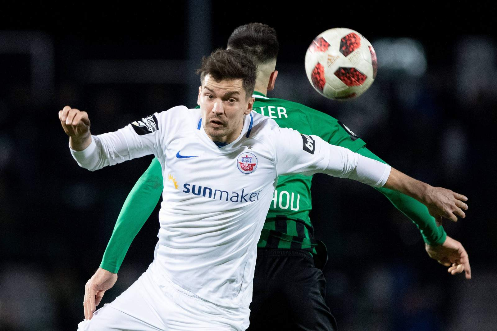 Julian Riedel im Spiel gegen Münster.