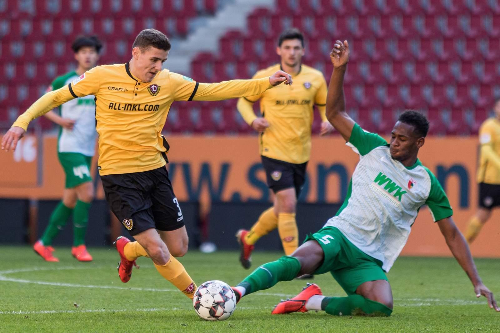 Marius Hauptmann (l.) im Testspiel.
