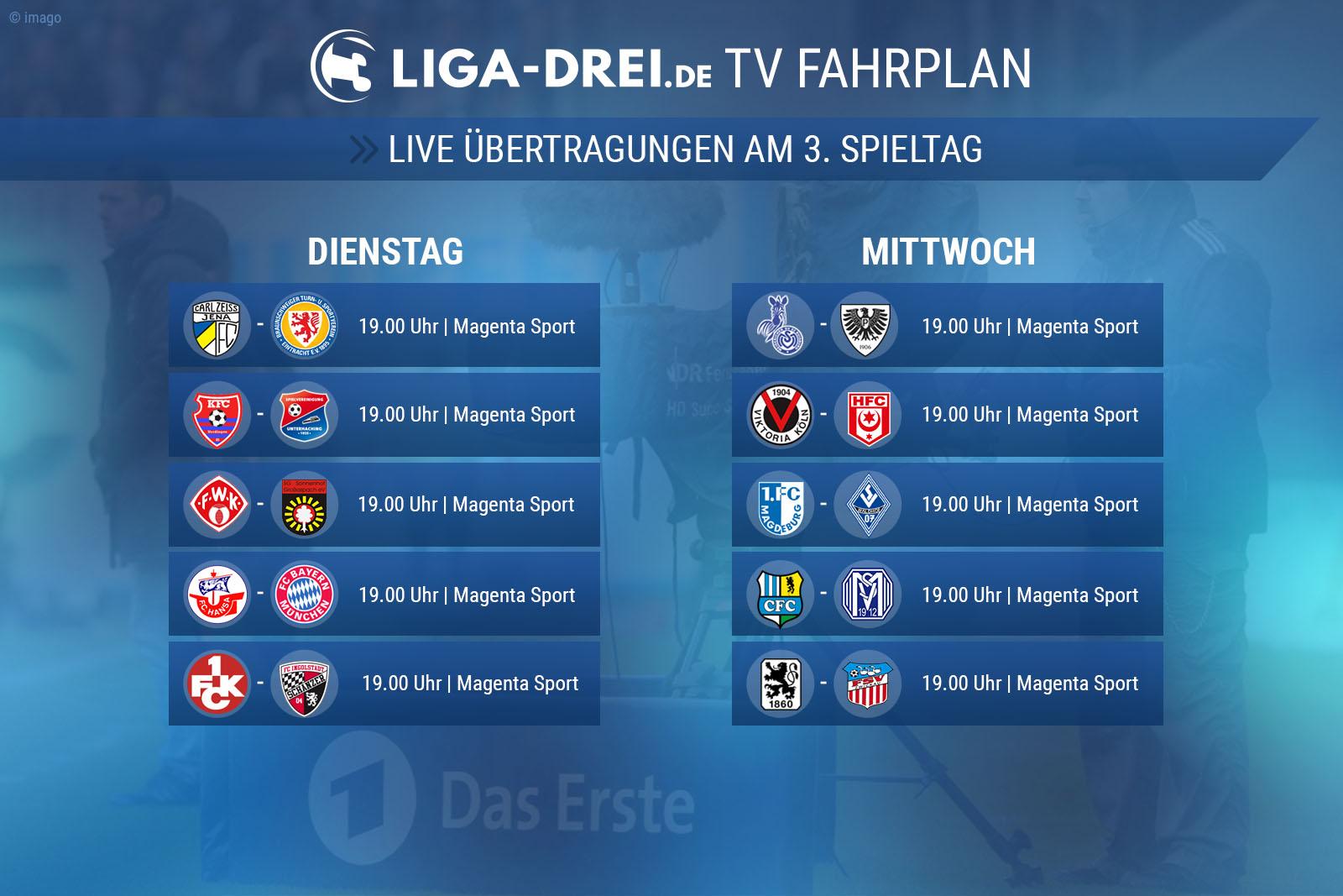 TV-Plan der 3. liga