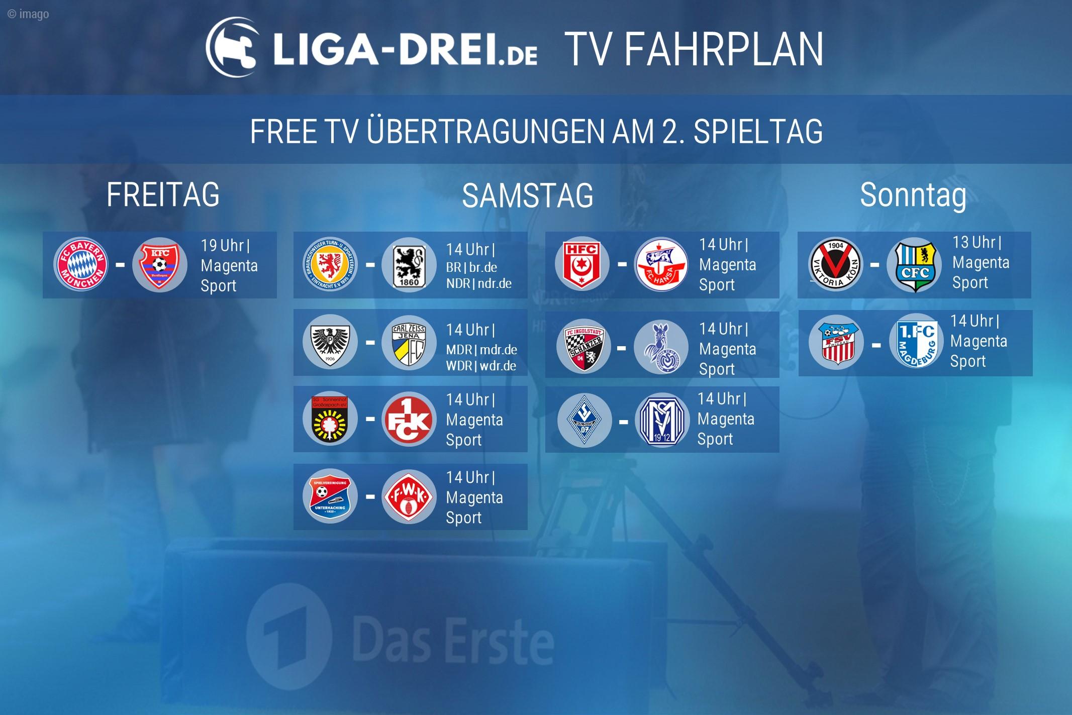 tv fahrplan, free tv, 3. liga