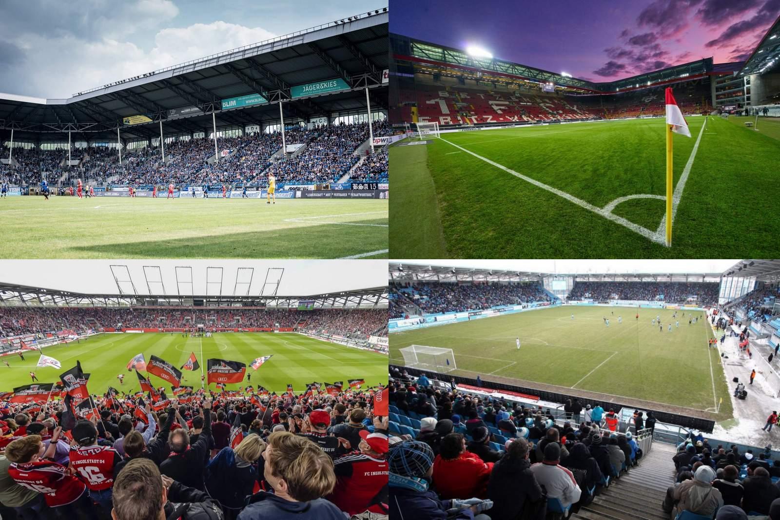 collage, 3. liga, stadion, übersicht