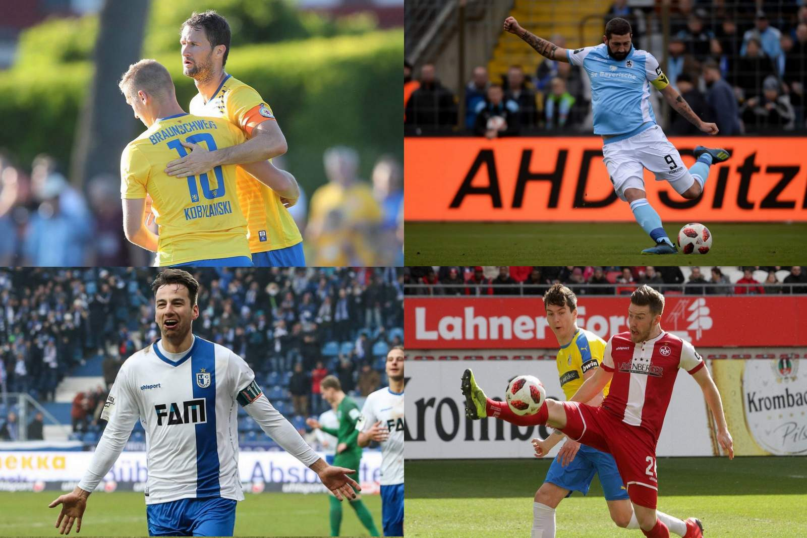 3. liga, 4. spieltag, collage