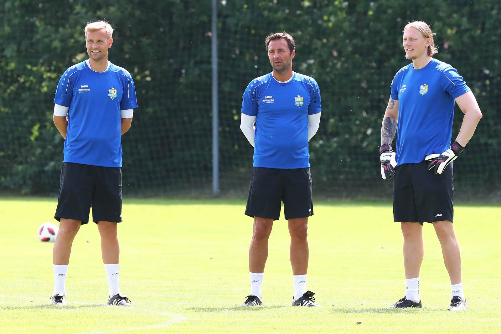 David Bergner, Sreto Ristic und Marcel Höttecke im Training