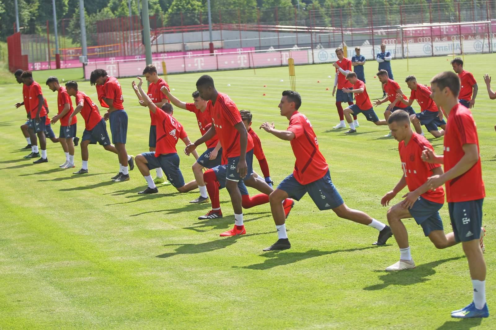 Trainingsauftakt der FC Bayern Amateure.