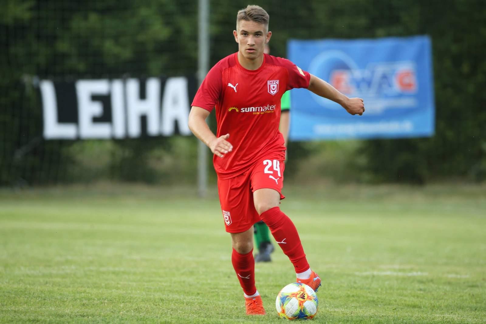Julian Guttau im Testspiel gegen Roßbach.