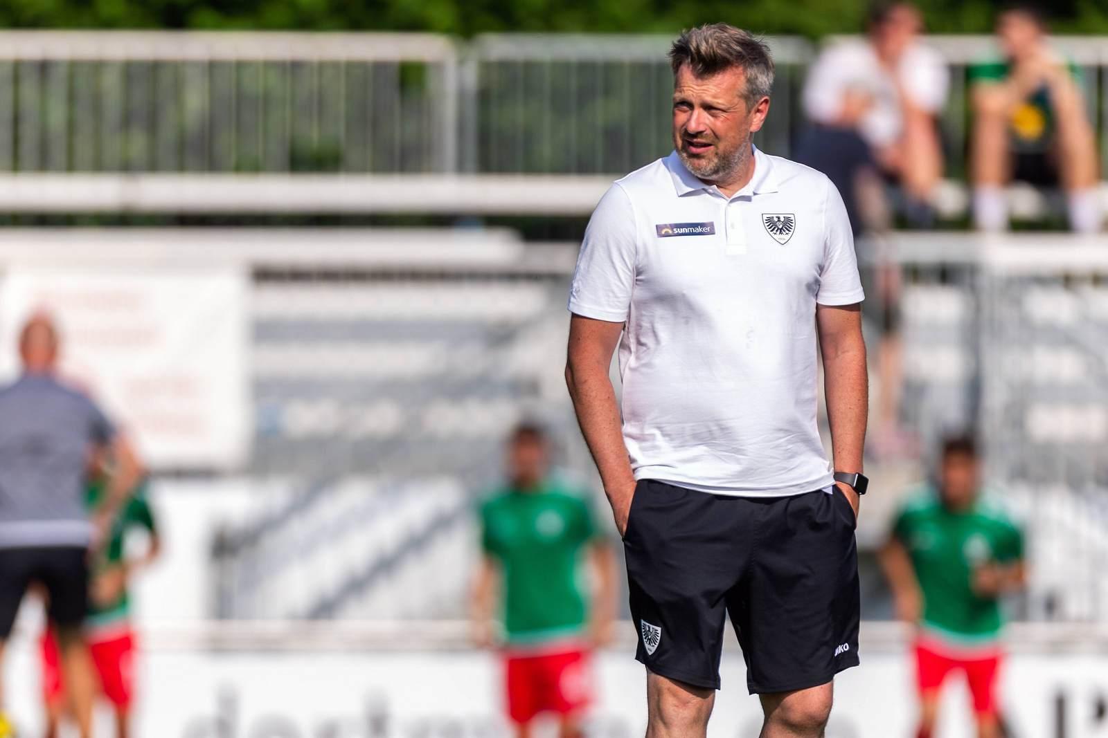Sven Hübscher als Trainer des SC Preußen Münster