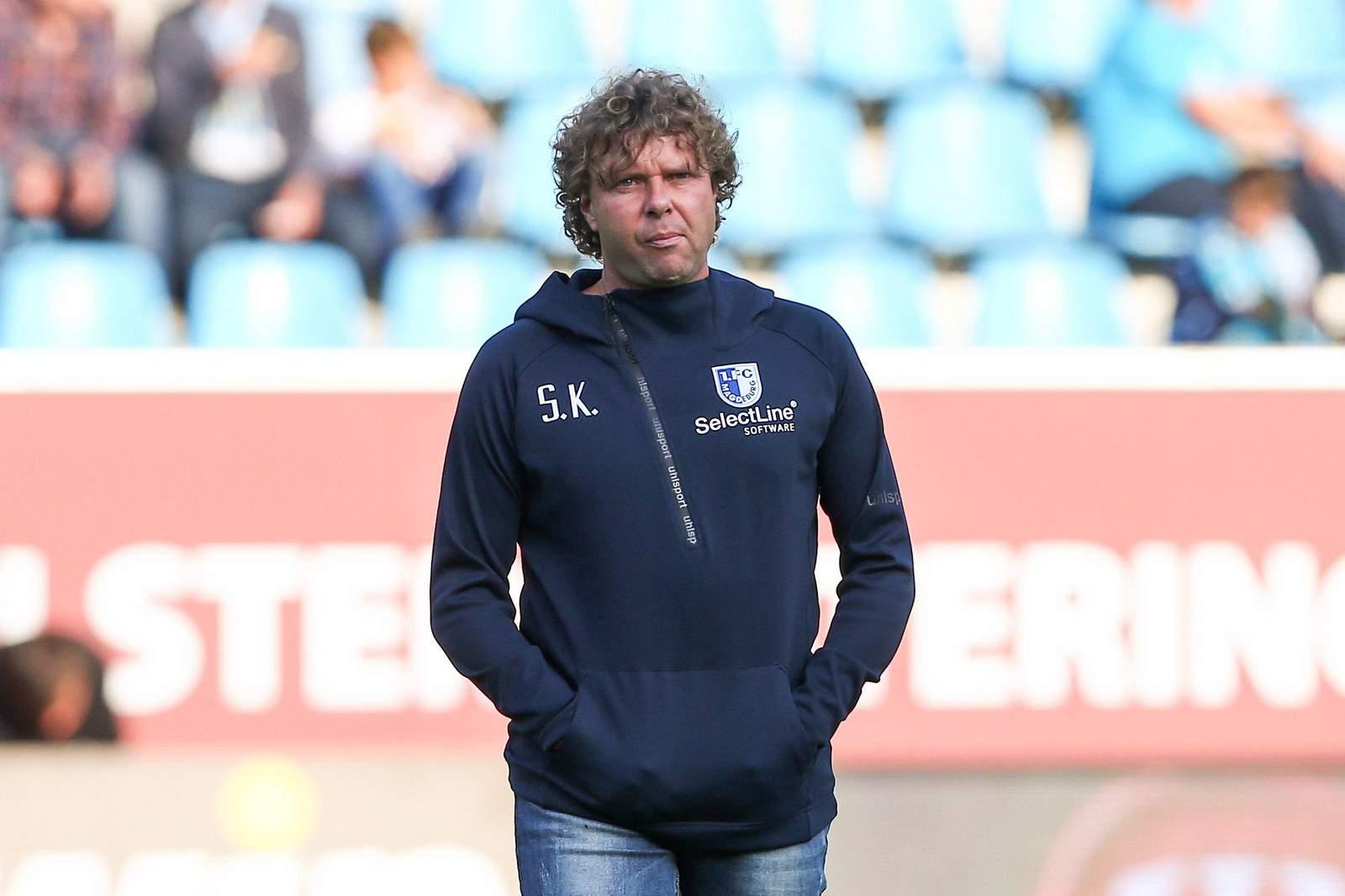 Stefan Krämer als Trainer des 1. FC Magdeburg.