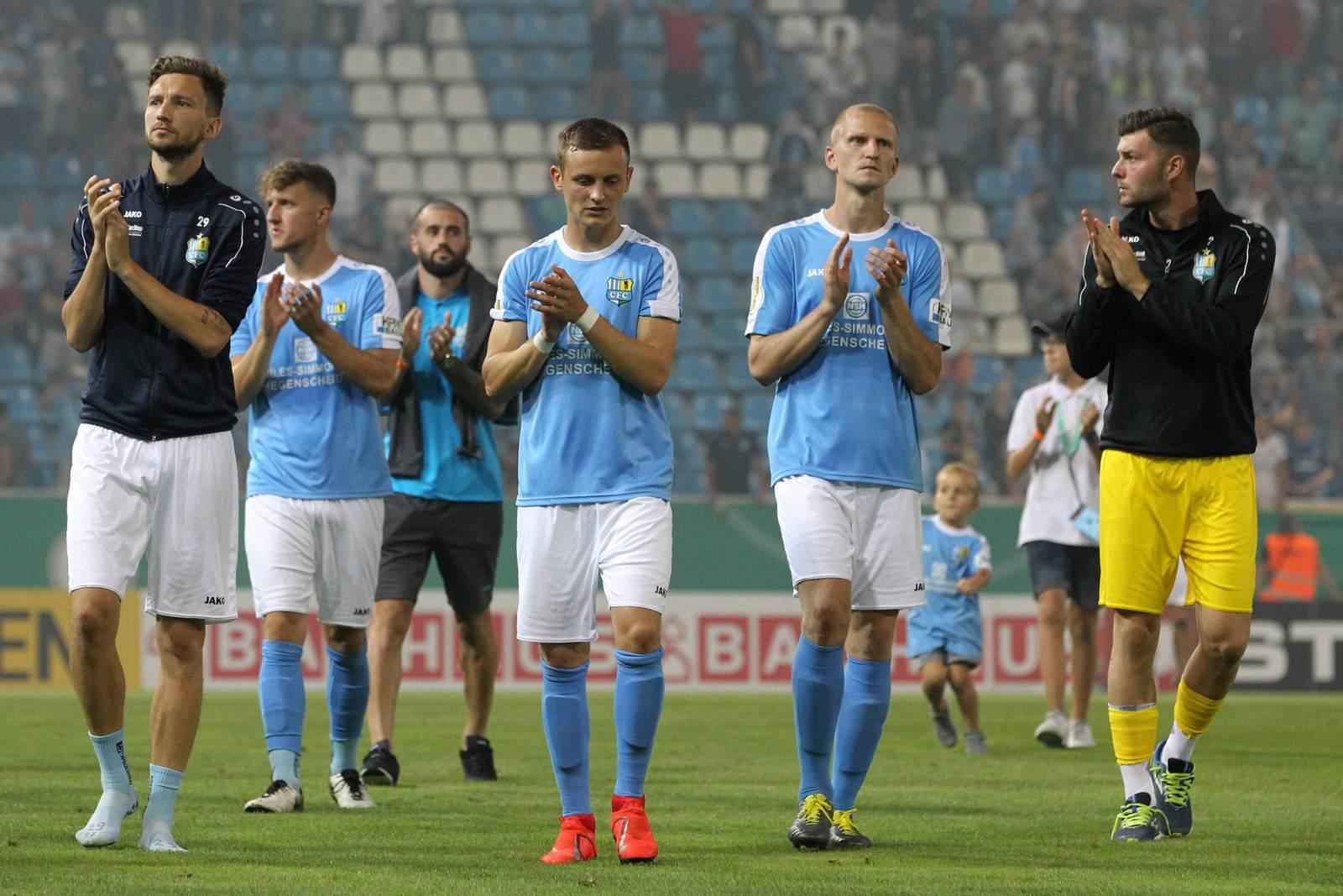 Chemnitzer FC nach dem Pokalspiel gegen den HSV