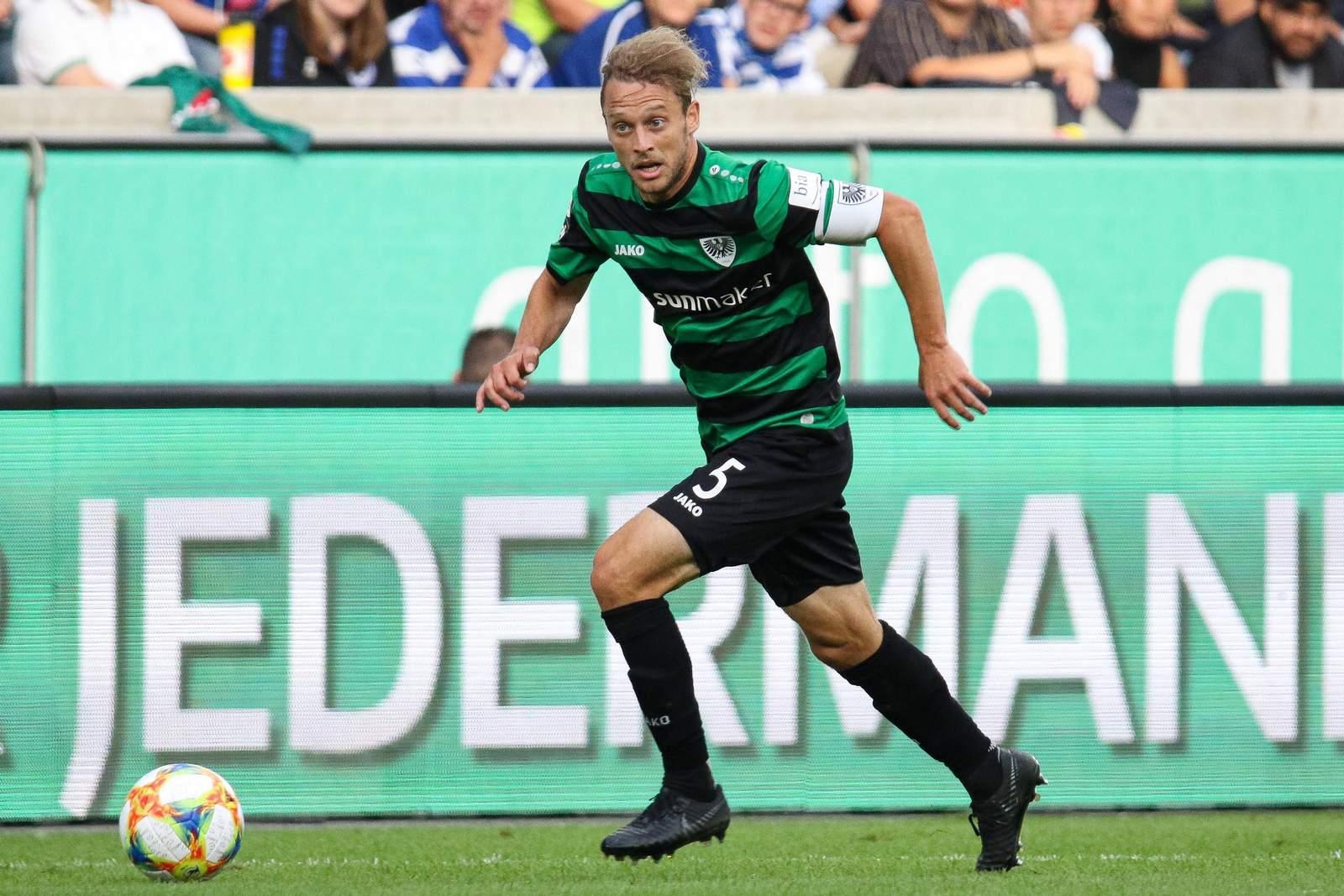 Julian Schauerte gegen Duisburg.