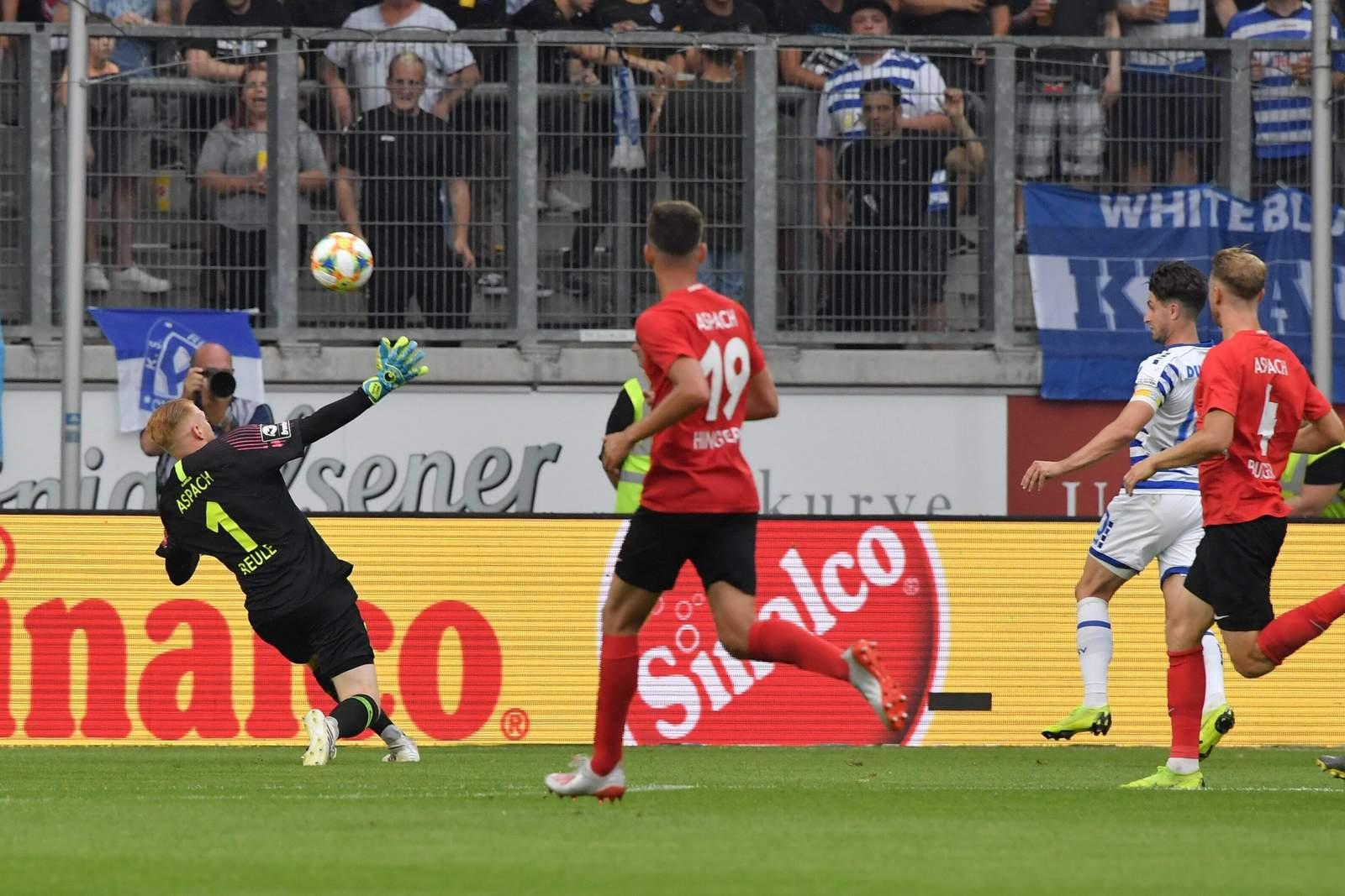 Moritz Stoppelkamp mit Tor gegen Großaspach