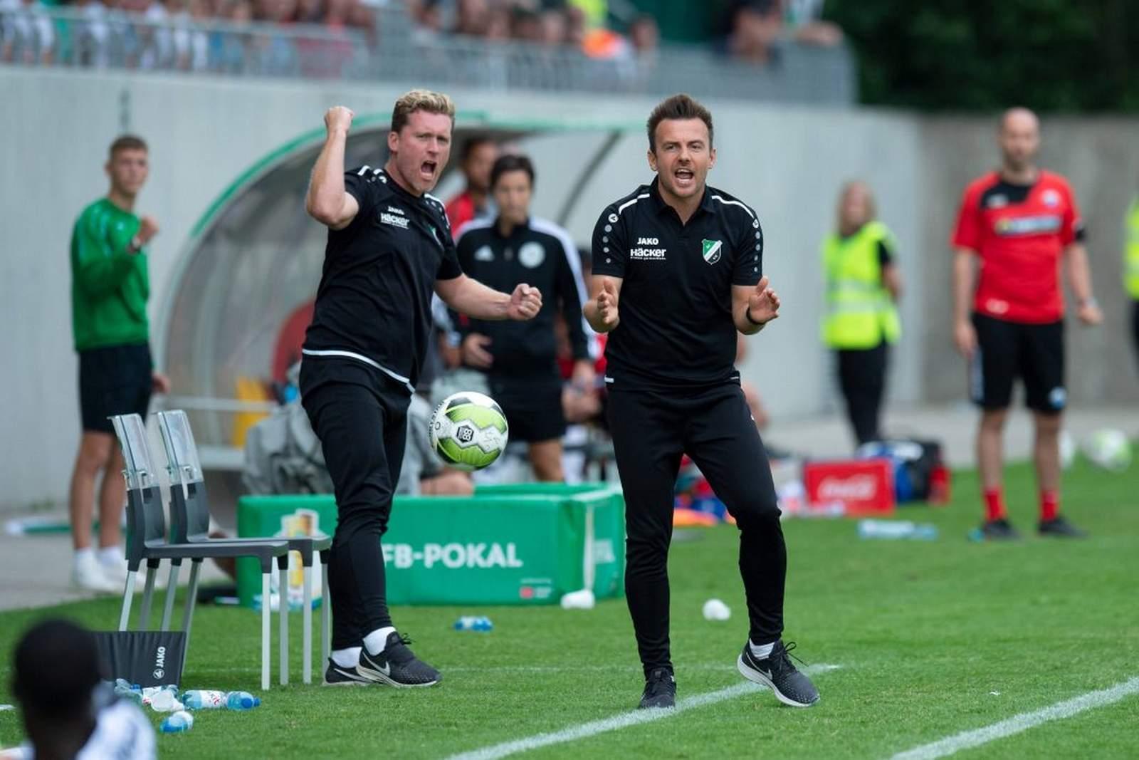 Enrico Maaßen und Sebastian Block trainieren den SV Rödinghausen