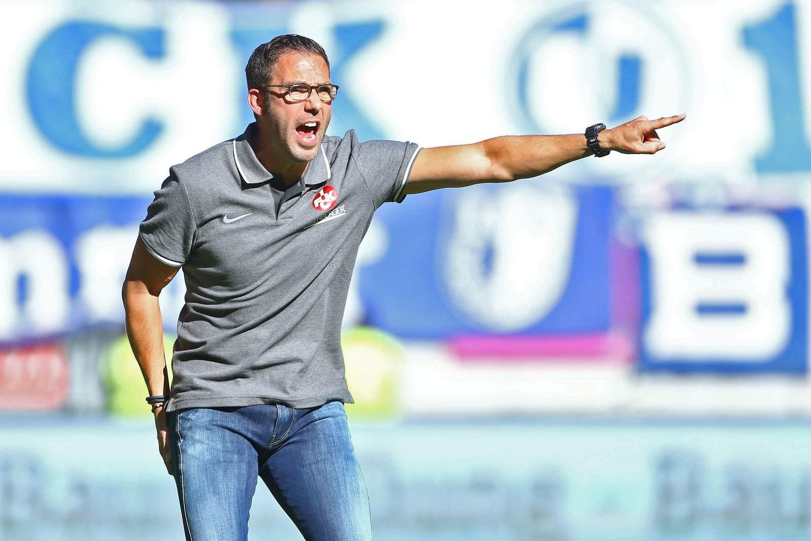 Boris Schommers als Trainer des 1. FC Kaiserslautern