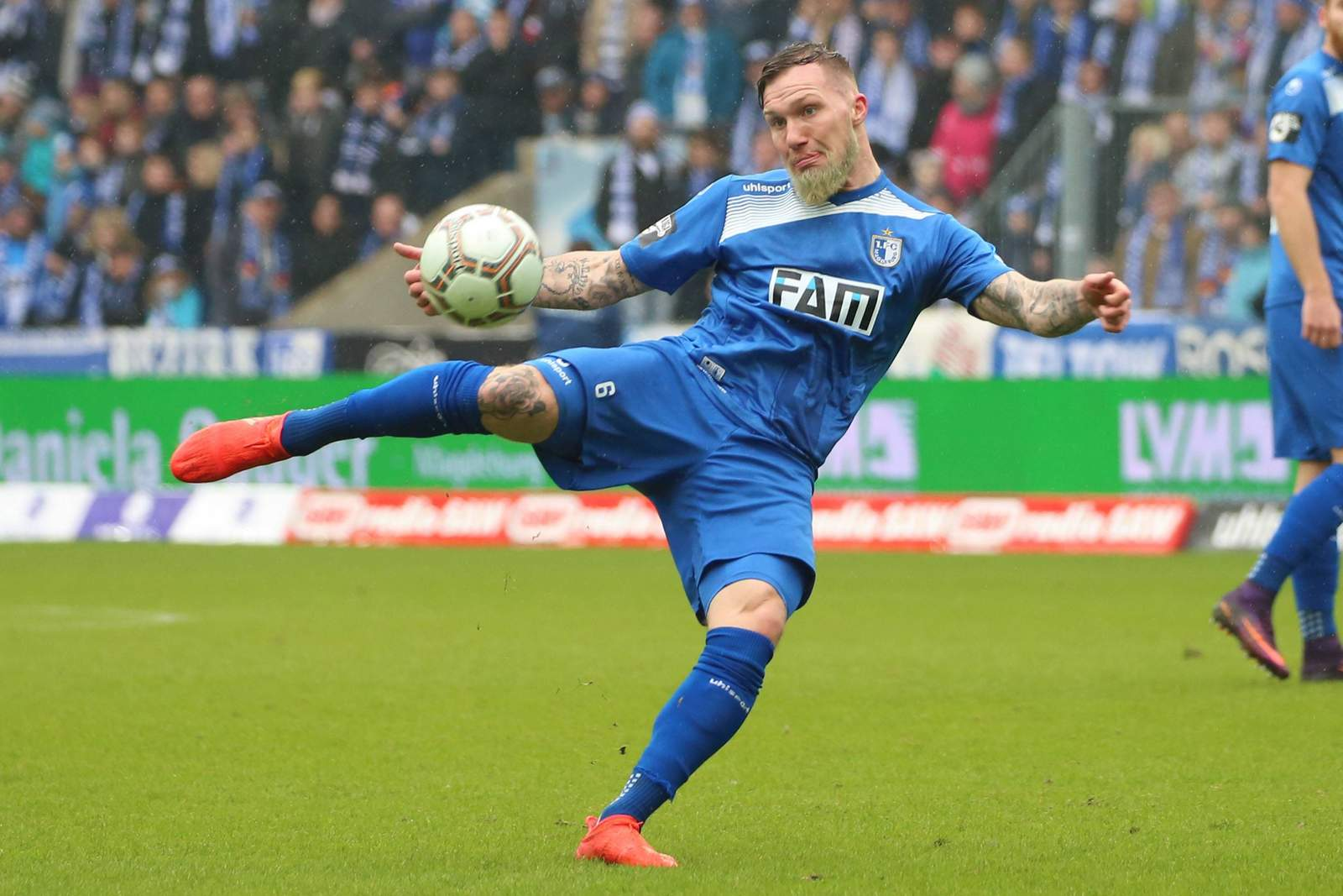 Jan Löhmannsröben im Einsatz für Magdeburg.