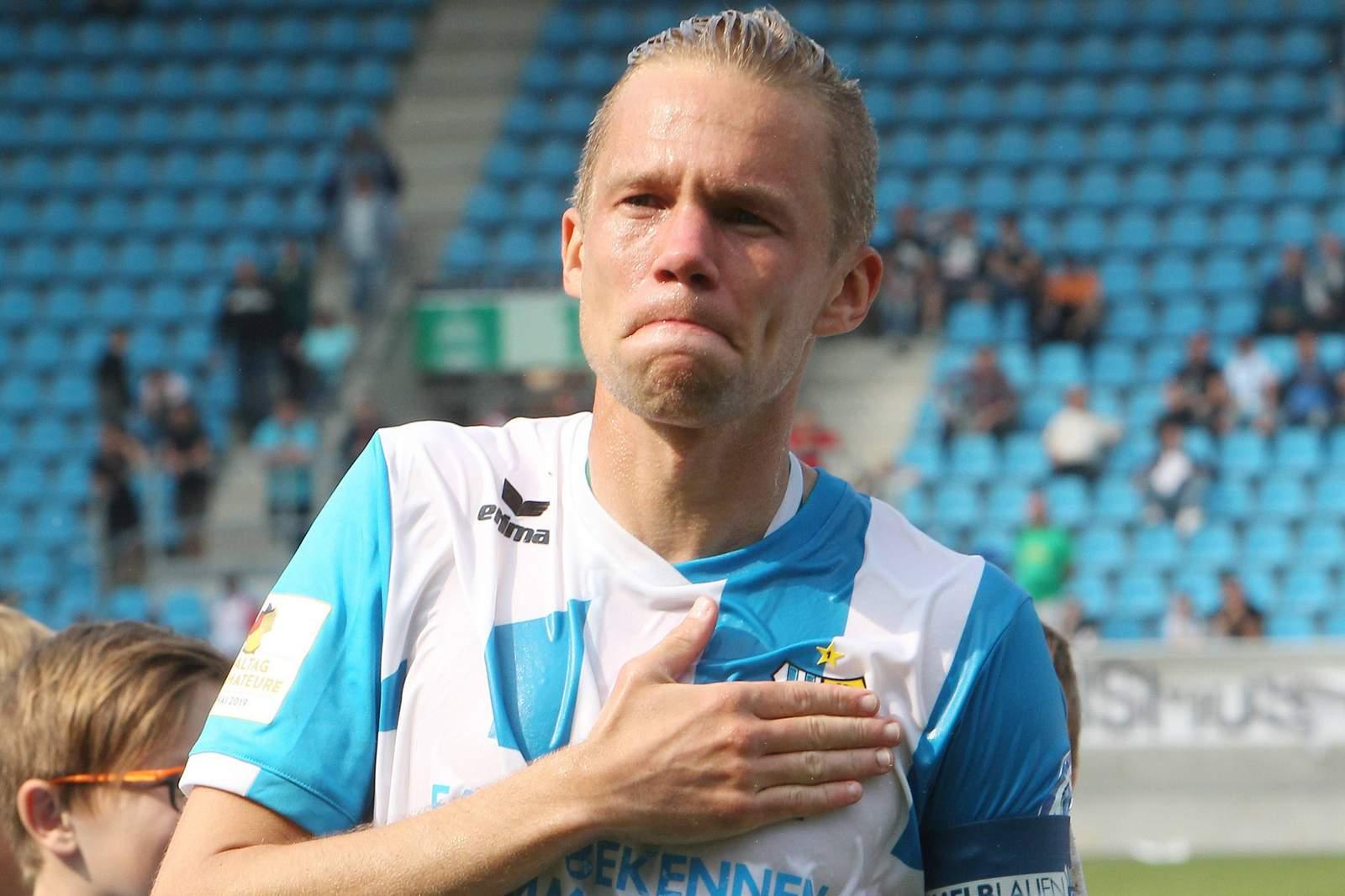 Dennis Grote beim letzten Spiel für den Chemnitzer FC