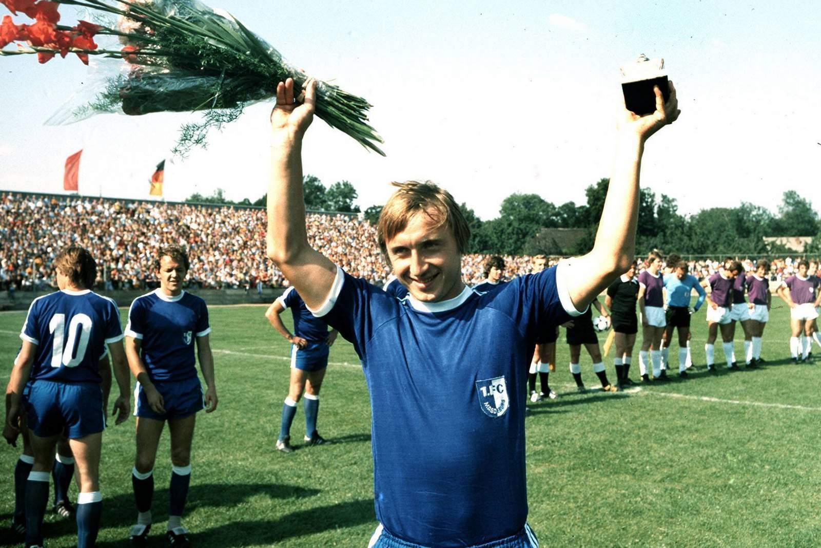 Joachim Streich bei der Auszeichnung 1979.