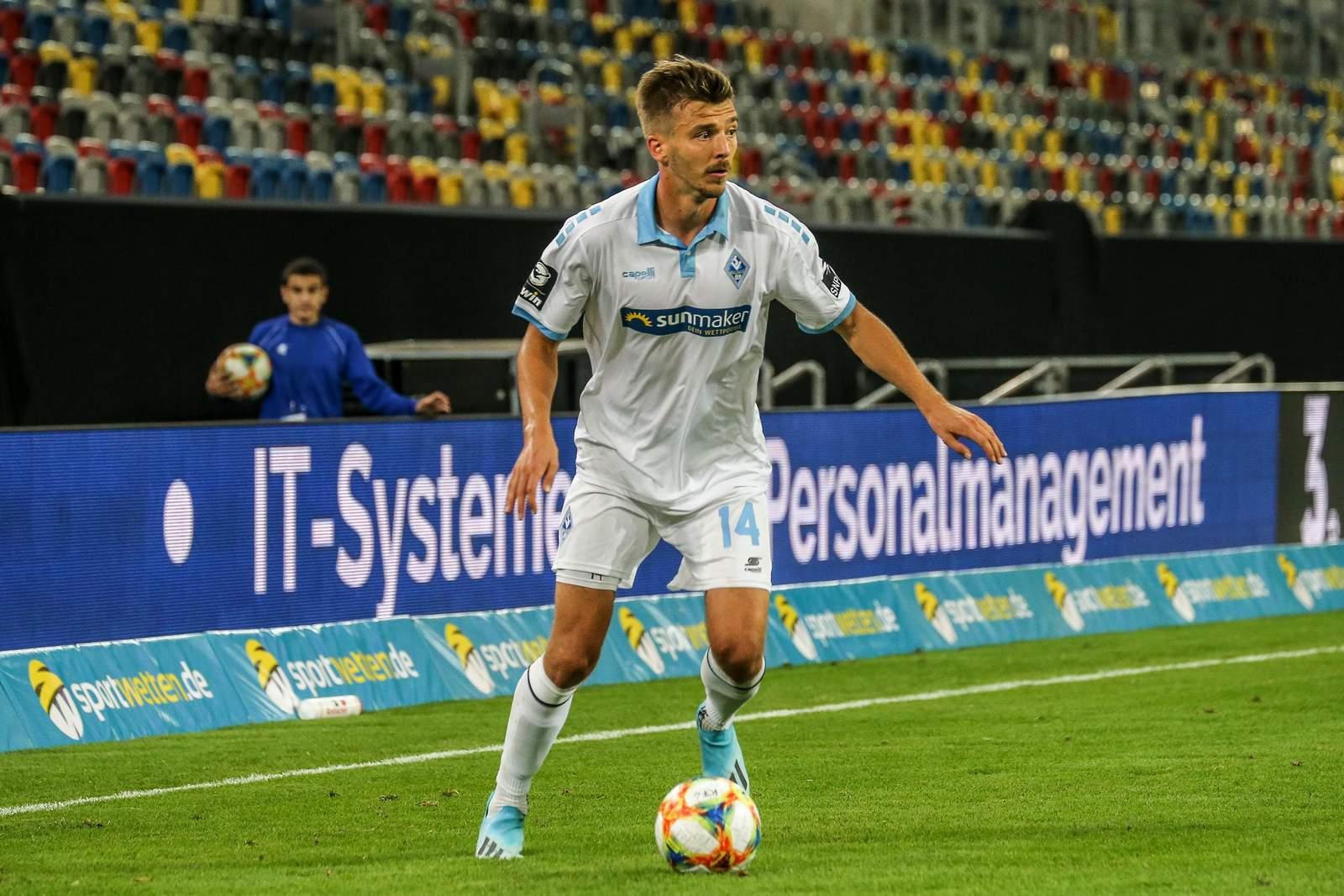 Maurice Deville im Spiel gegen Uerdingen.
