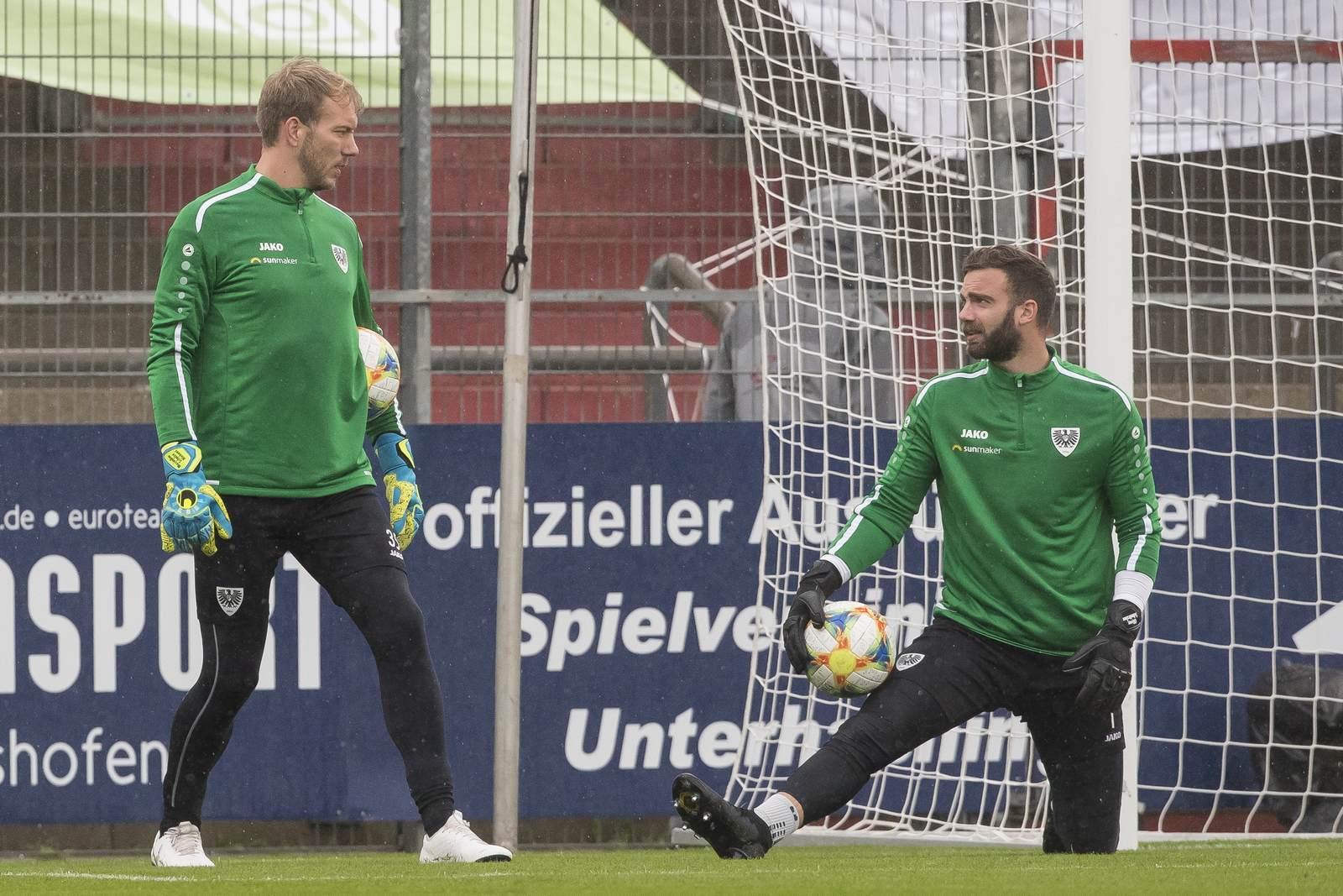 Maximilian Schulze Niehues und Oliver Schnitzler im Training