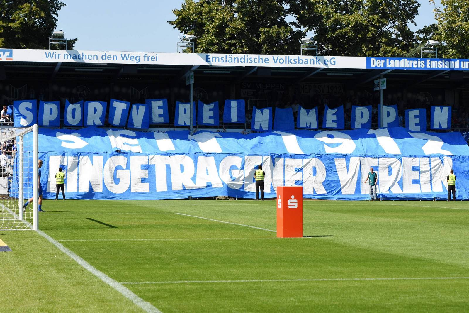 Choreo der SV Meppen Fans